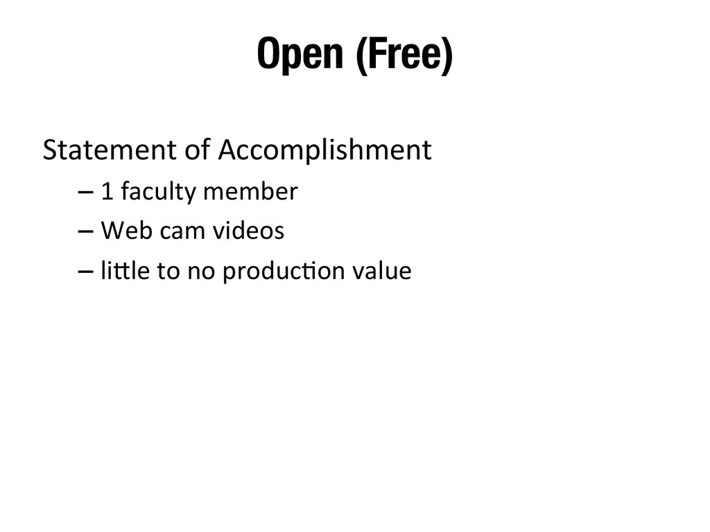 Open (Free)