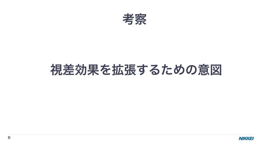 31 ࢹࠩޮՌΛ֦ு͢ΔͨΊͷҙਤ ߟ