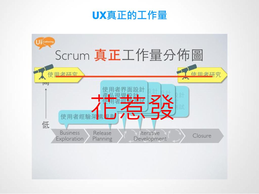 UX真正的工作量 花惹發
