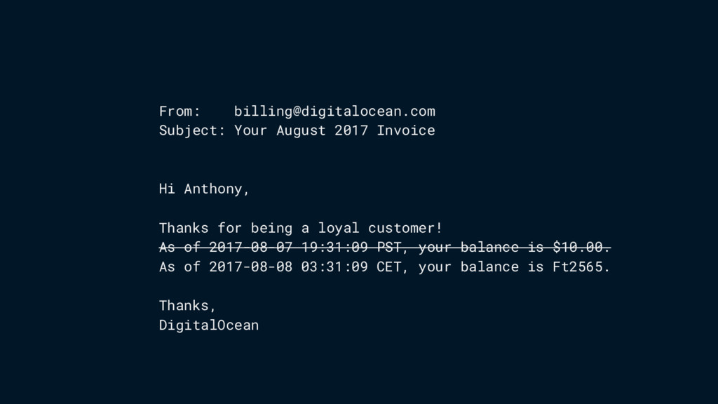 From: billing@digitalocean.com Subject: Your Au...