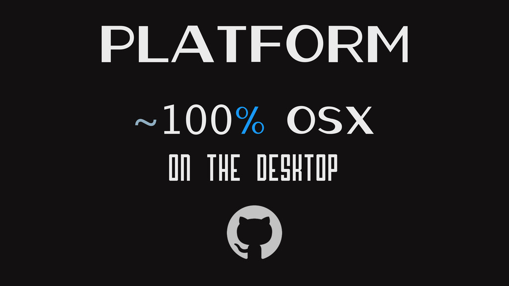 ~100% OSX On the Desktop Platform