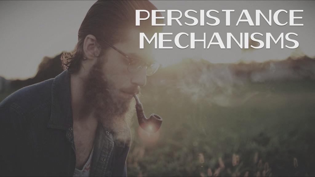 Persistance Mechanisms