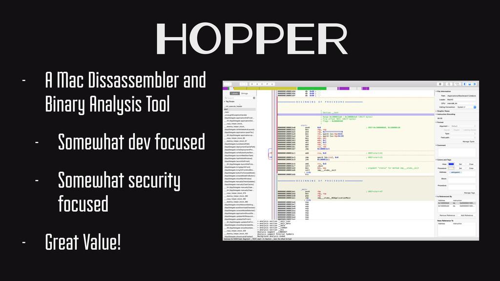 Hopper - A Mac Dissassembler and Binary Analysi...