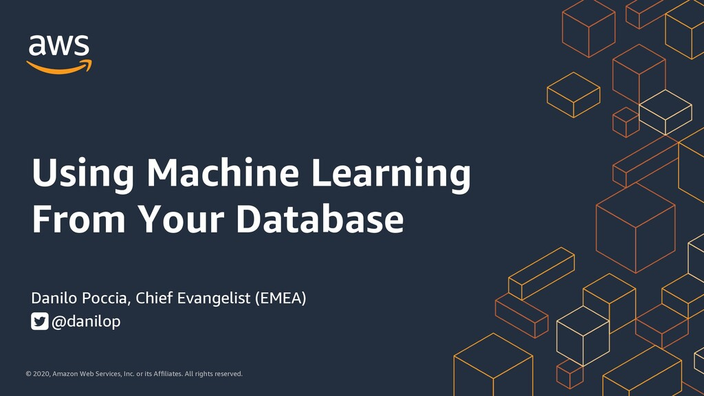 Using Machine Learning From Your Databases