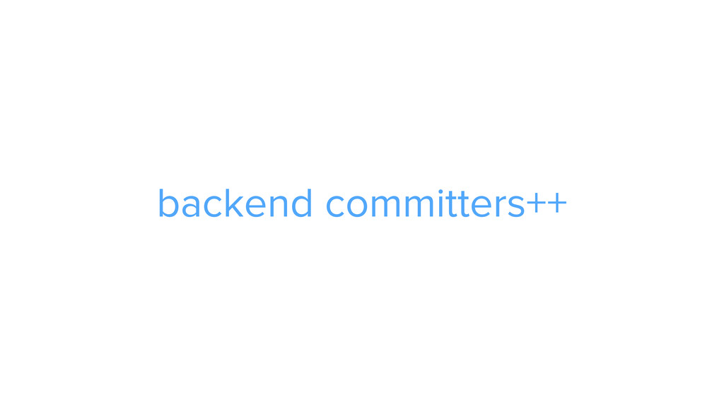 CAROUSEL ADS ADS backend committers++
