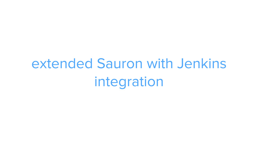 CAROUSEL ADS ADS extended Sauron with Jenkins i...