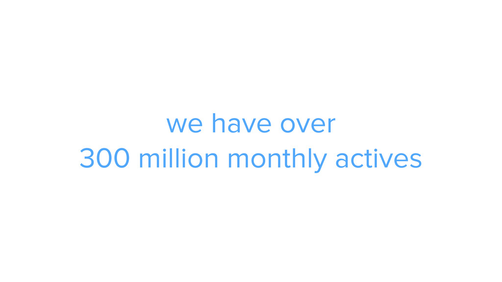we have over 