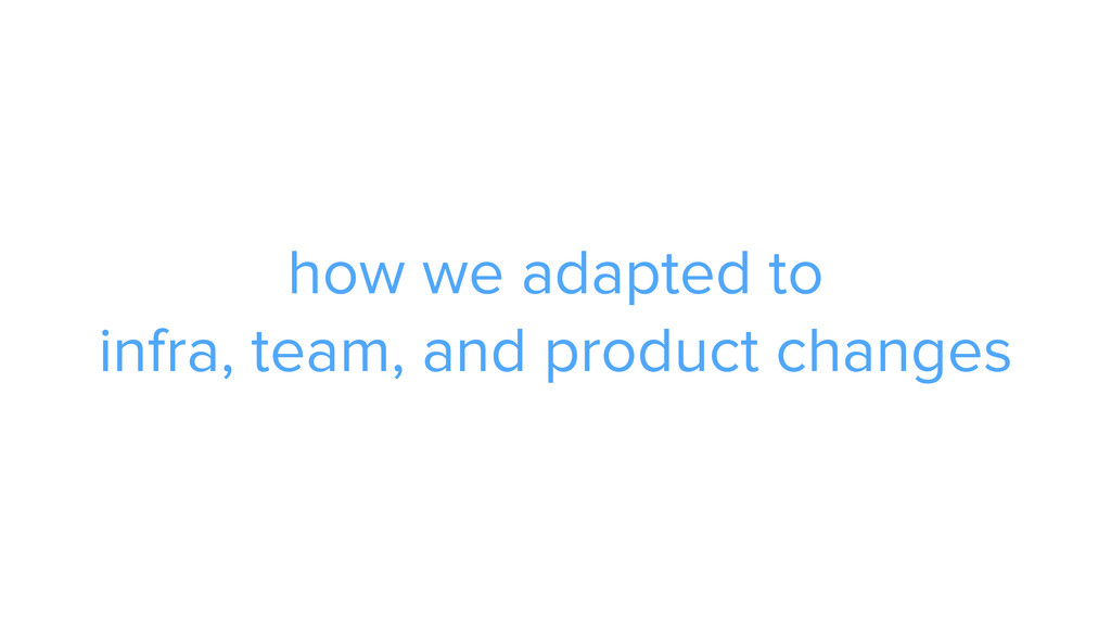 how we adapted to infra, team, and product chan...