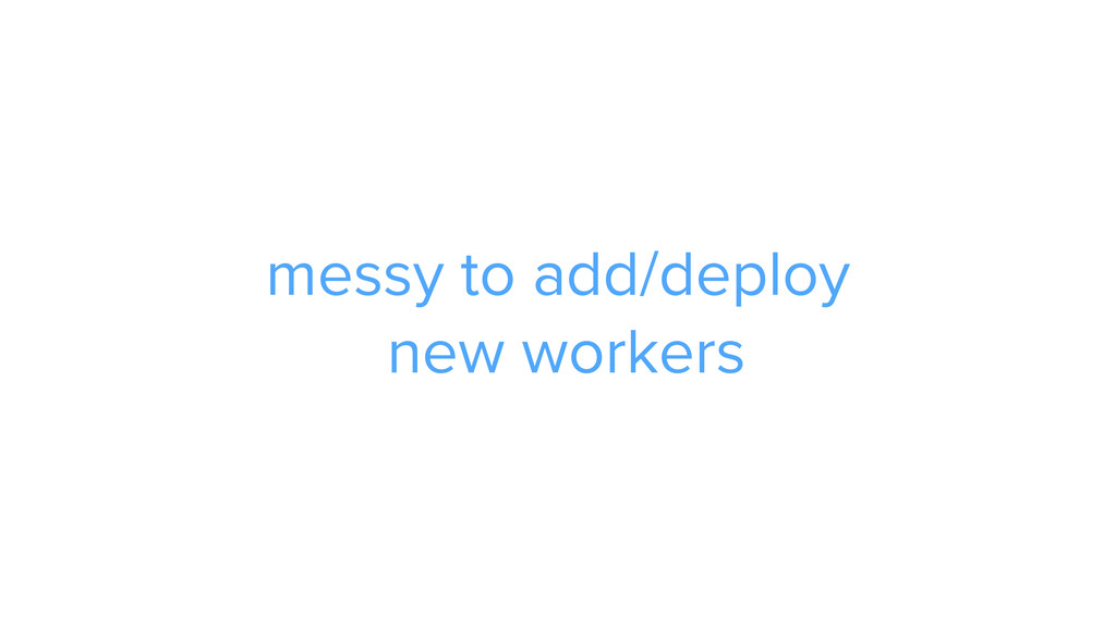 CAROUSEL ADS ADS messy to add/deploy new workers