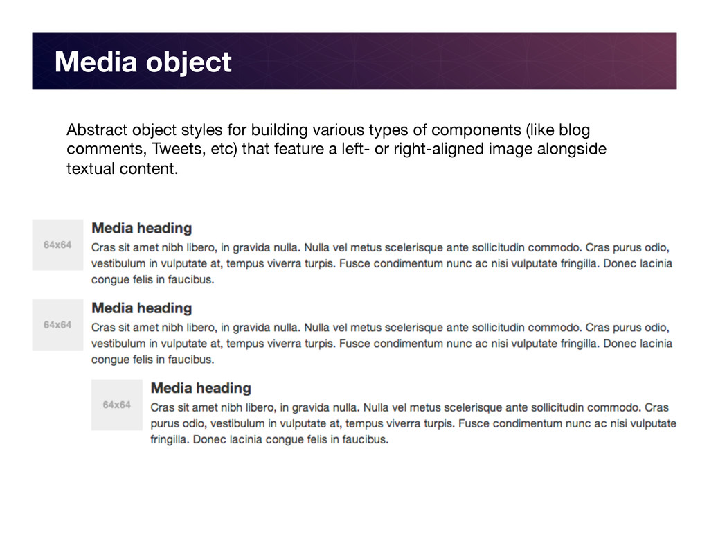 Media object