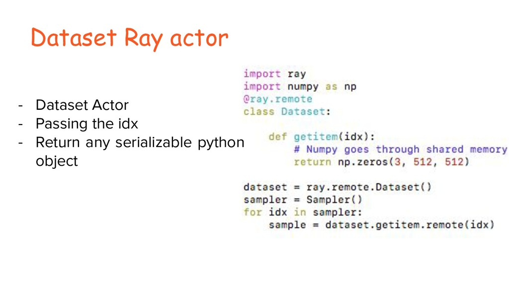 Dataset Ray actor - Dataset Actor - Passing the...