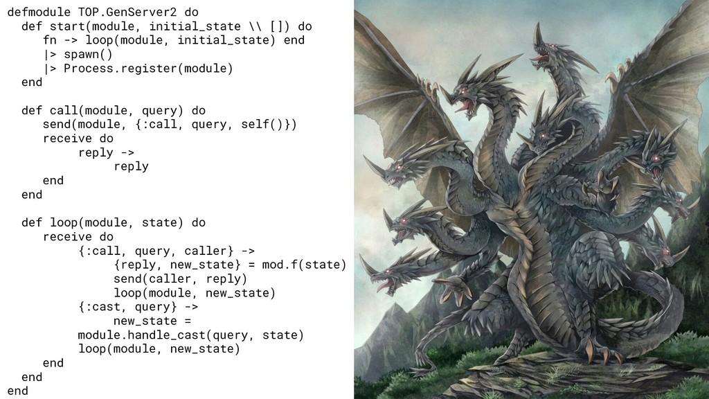 defmodule TOP.GenServer2 do def start(module, i...