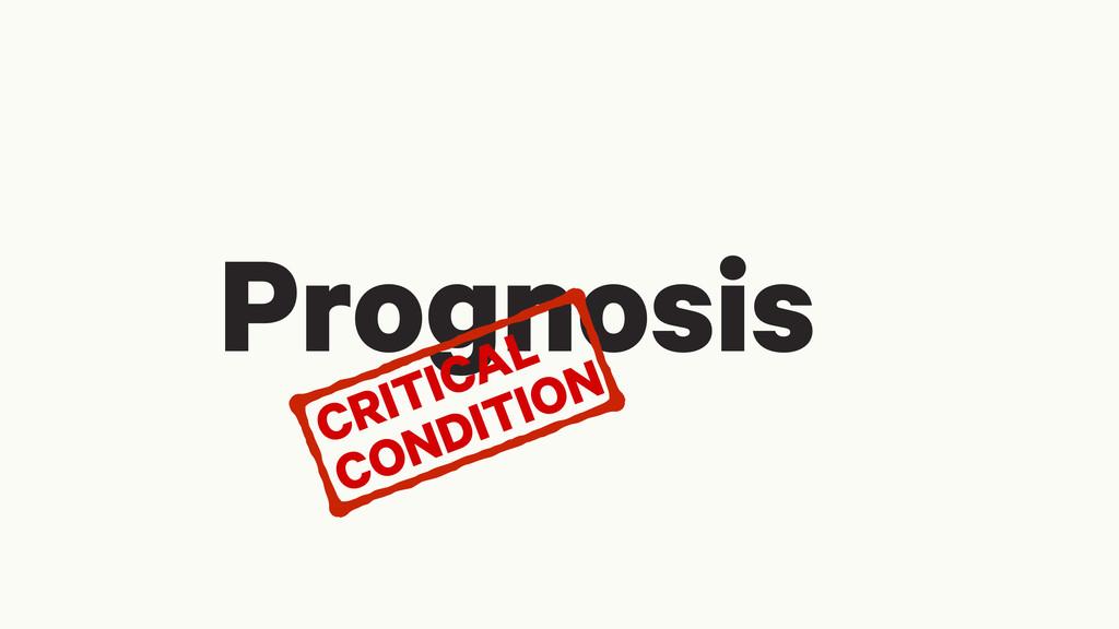 Prognosis CRITICAL CONDITION