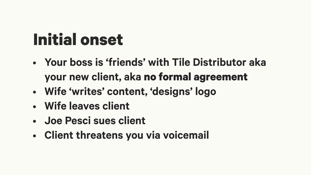 • Your boss is 'friends' with Tile Distributor ...