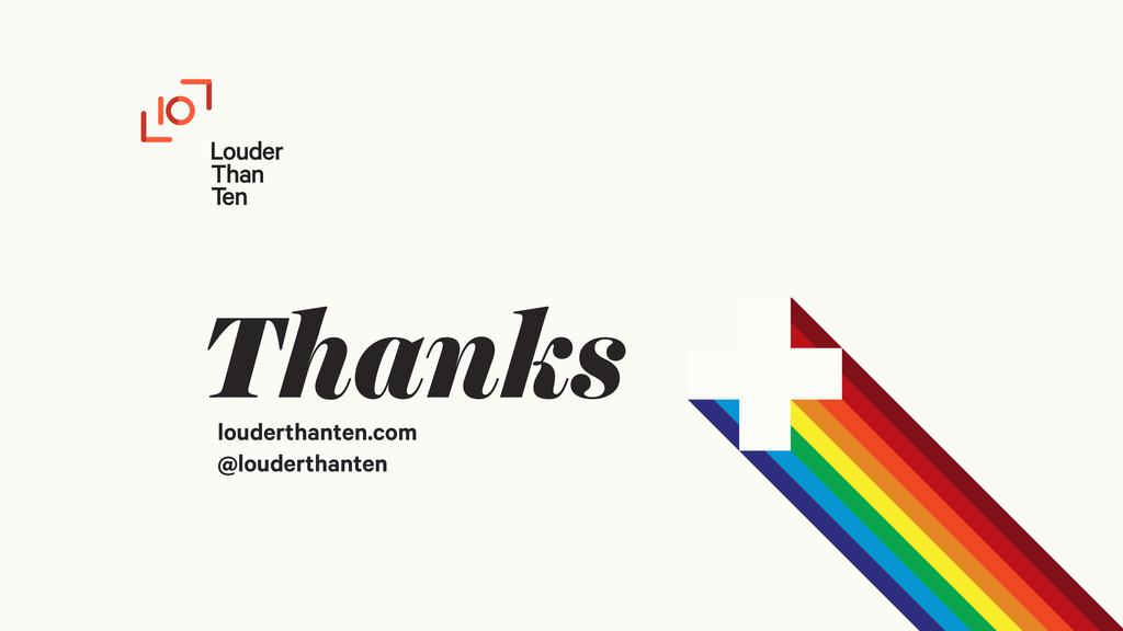 Thanks louderthanten.com @louderthanten