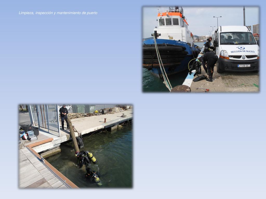 Limpieza, inspección y mantenimiento de puerto