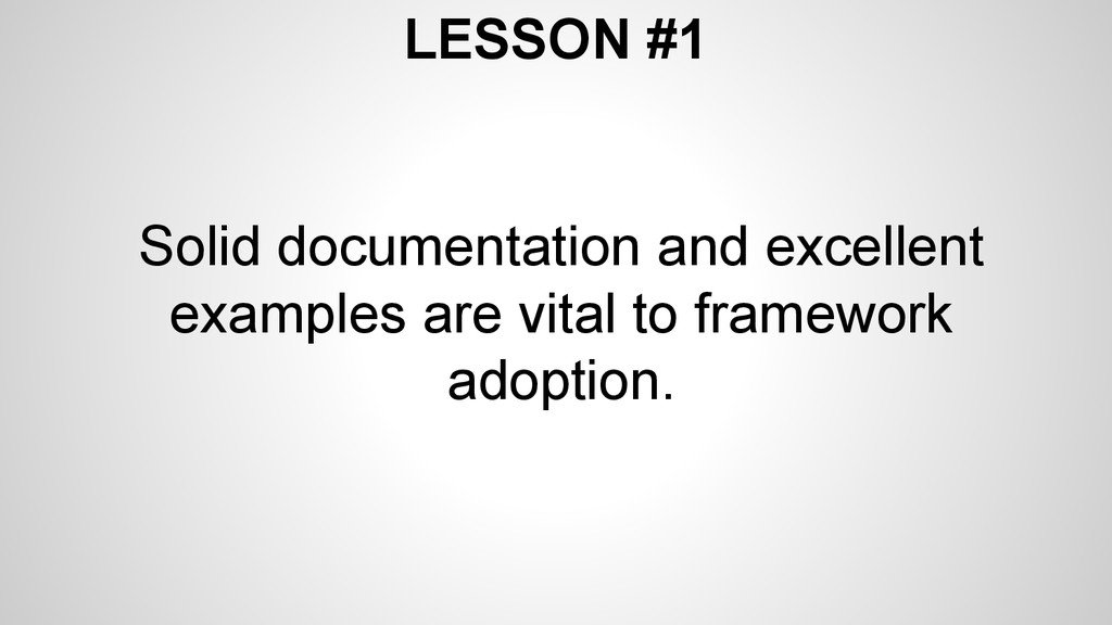 LESSON #1 Solid documentation and excellent exa...