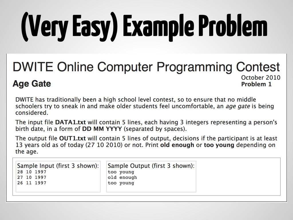 (Very Easy) Example Problem