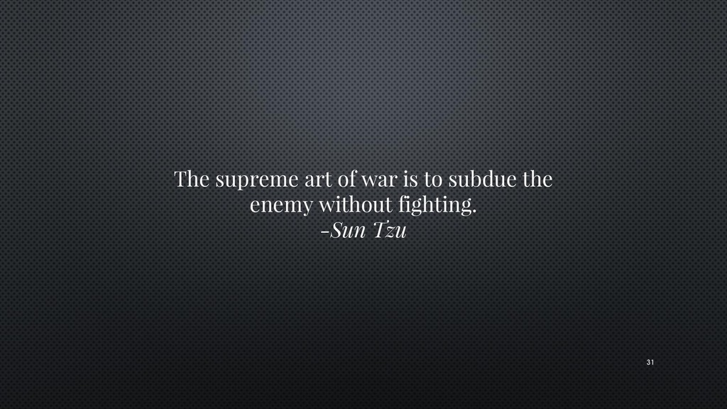 The supreme art of war is to subdue the enemy w...