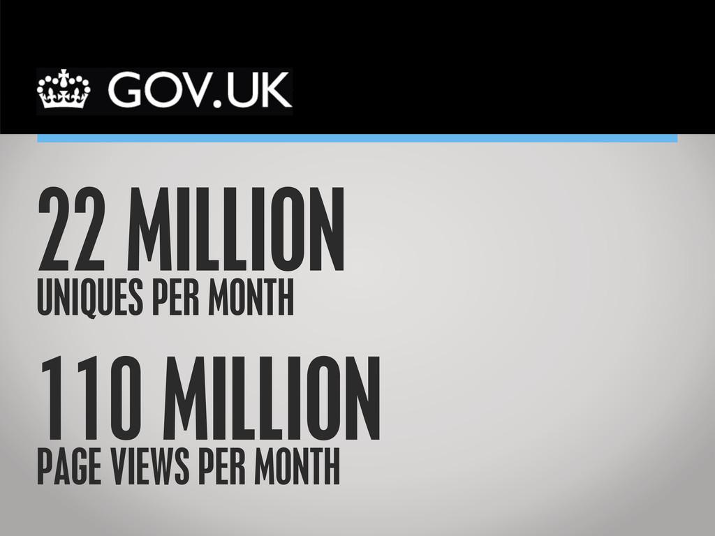 Government Digital Service 22 MILLION UNIQUES P...