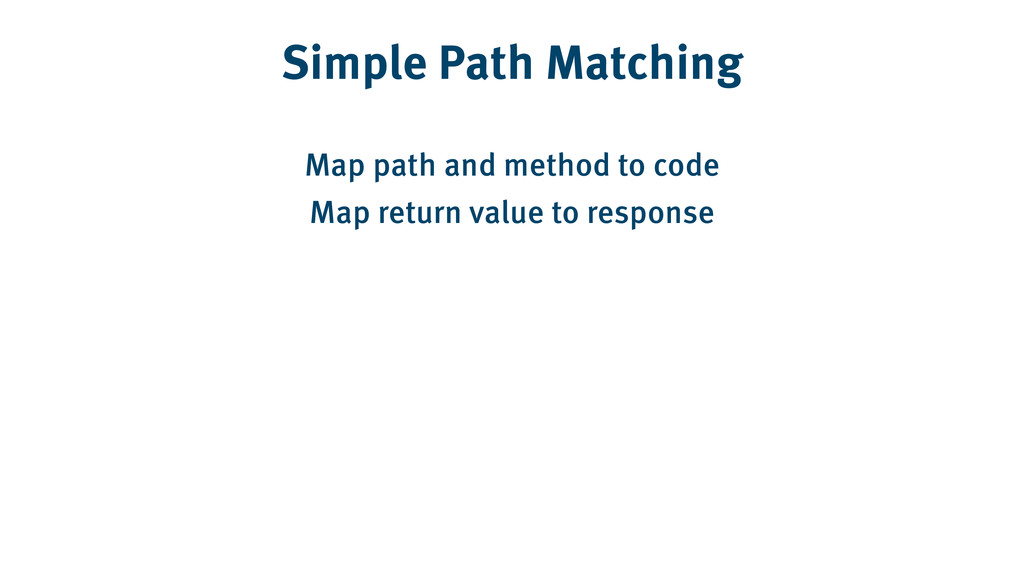 Simple Path Matching Map path and method to cod...