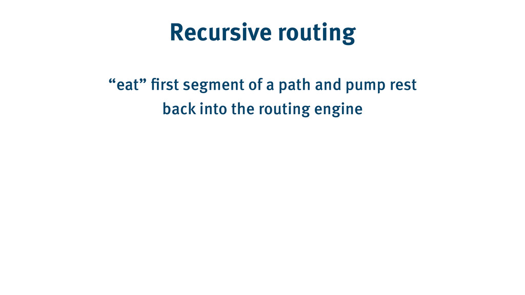 "Recursive routing ""eat"" first segment of a path..."