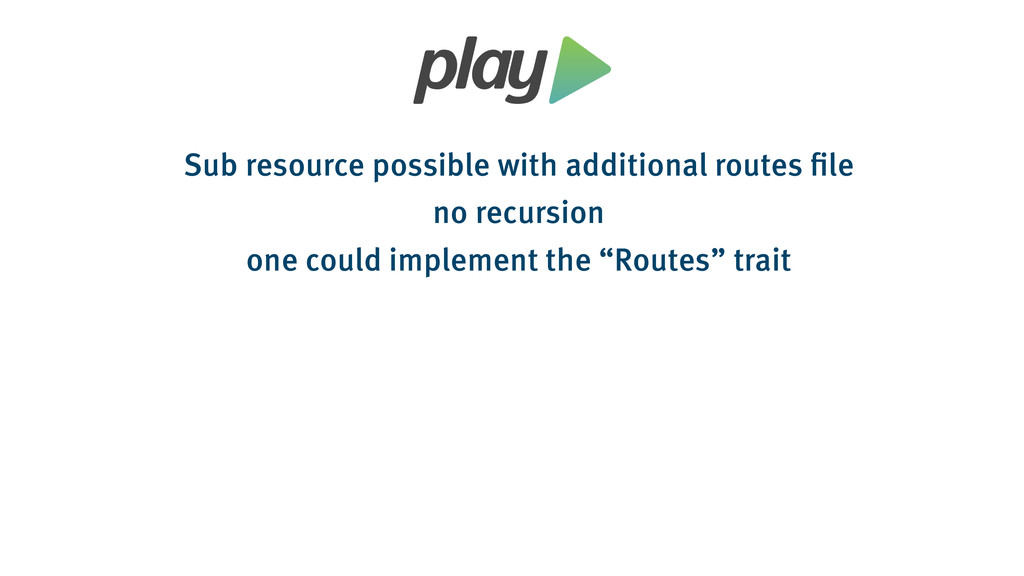 Sub resource possible with additional routes fi...