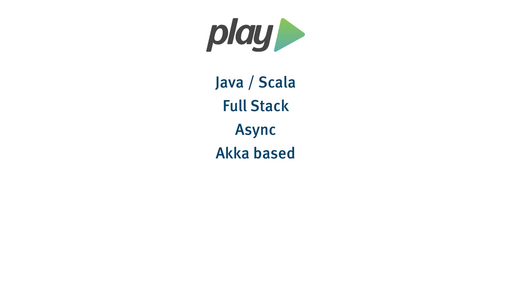 Java / Scala Full Stack Async Akka based
