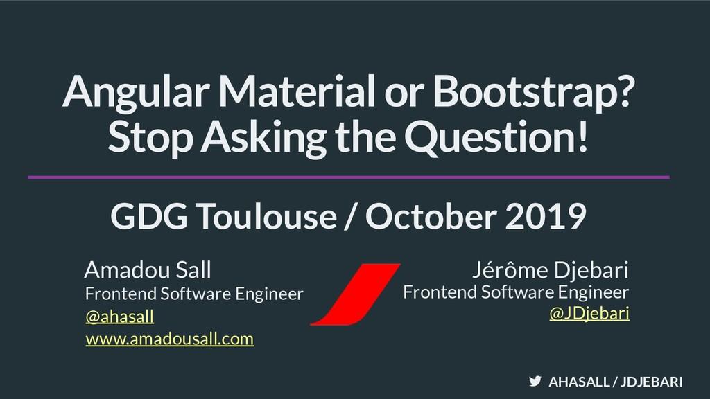 AHASALL / JDJEBARI Frontend Software Engineer J...