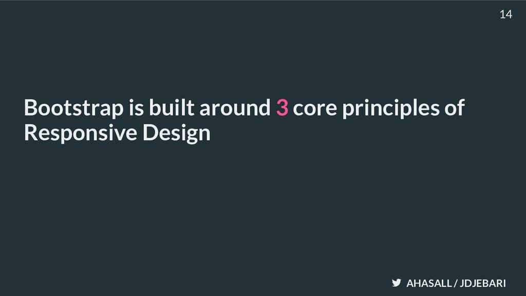 AHASALL / JDJEBARI Bootstrap is built around 3 ...