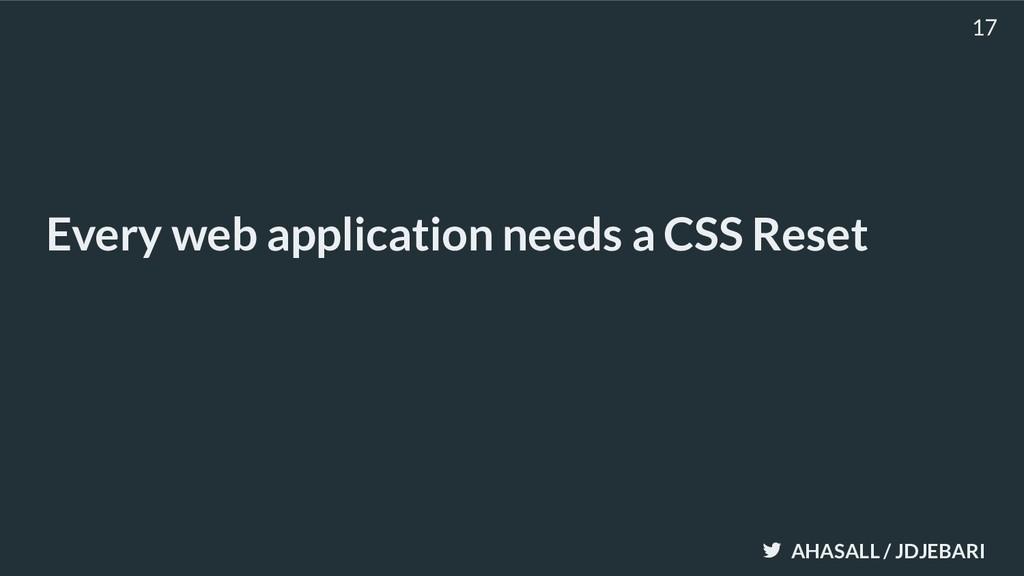 AHASALL / JDJEBARI Every web application needs ...