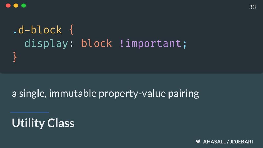 AHASALL / JDJEBARI Utility Class .d-block { dis...
