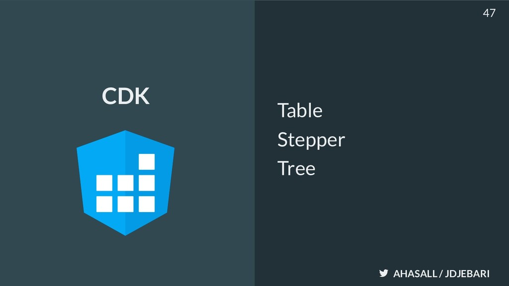 AHASALL / JDJEBARI Table Stepper Tree 47 CDK