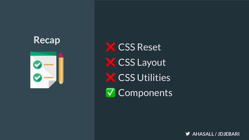 AHASALL / JDJEBARI ❌ CSS Reset ❌ CSS Layout ❌ C...