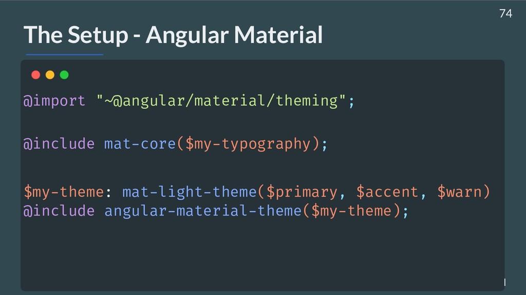 AHASALL / JDJEBARI The Setup - Angular Material...