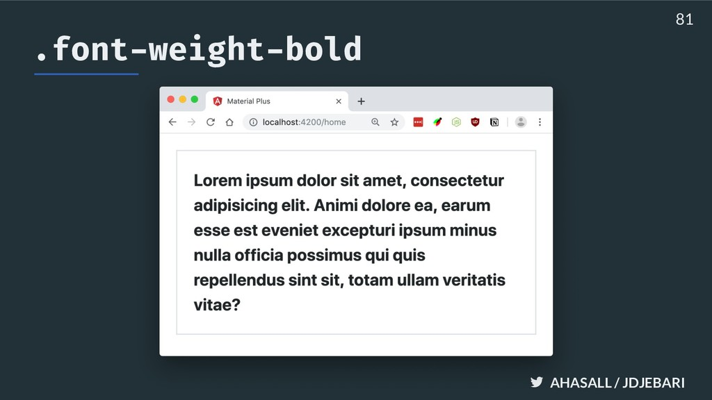 AHASALL / JDJEBARI .font-weight-bold 81