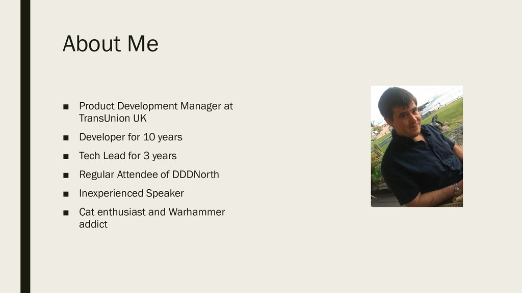 About Me ■ Product Development Manager at Trans...