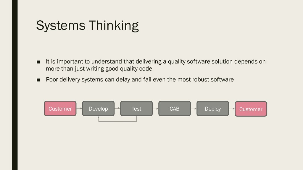Systems Thinking ■ It is important to understan...