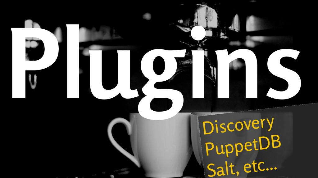 Plugins Discovery PuppetDB Salt, etc...