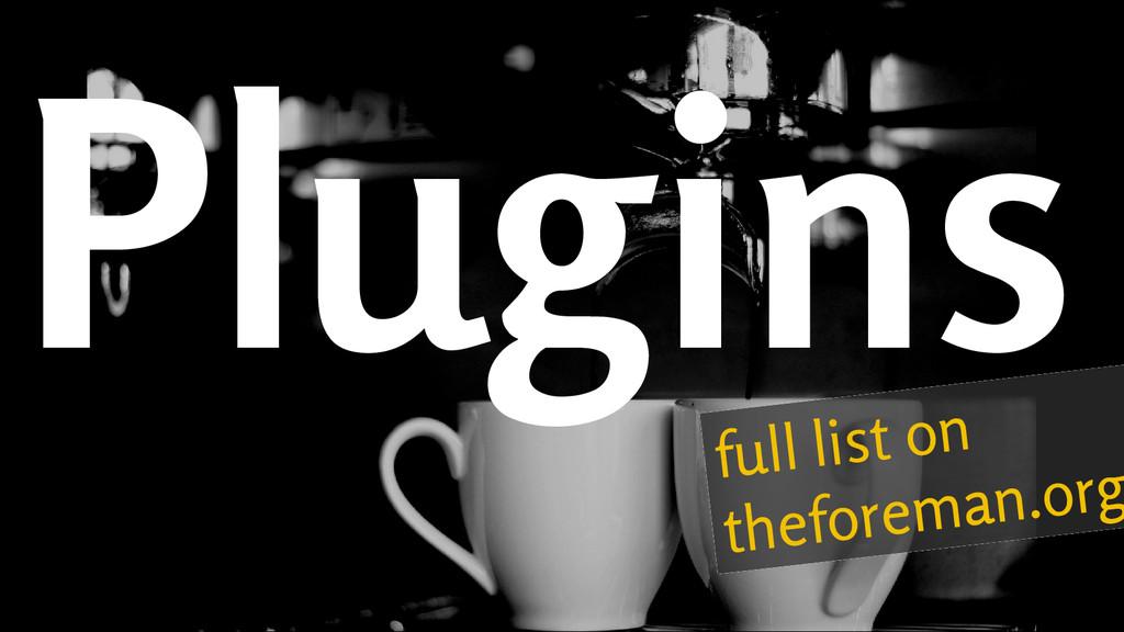 Plugins full list on theforeman.org