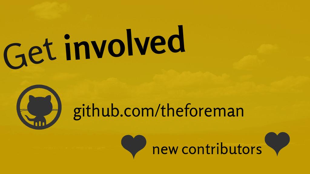 Get involved github.com/theforeman new contribu...