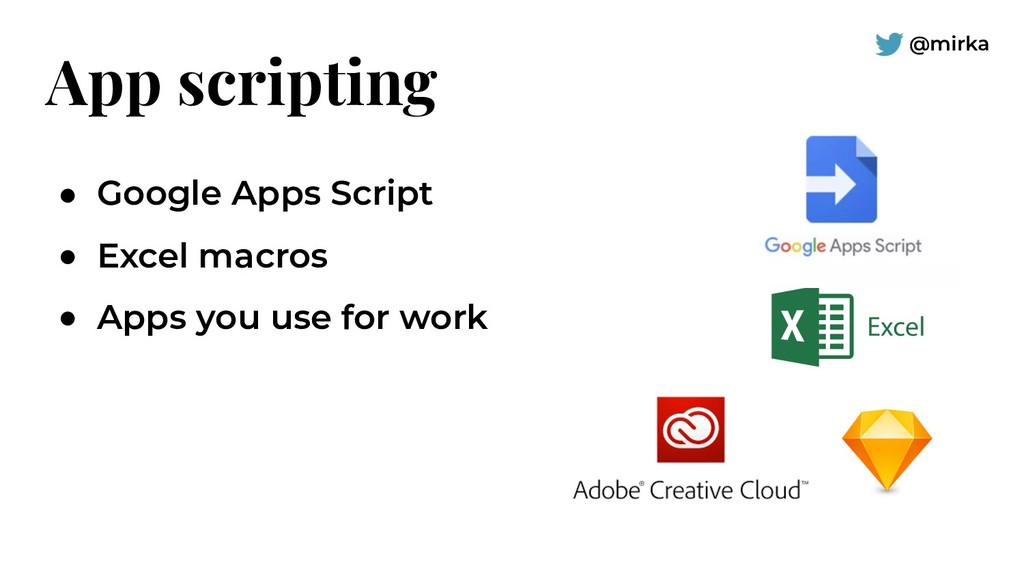 @mirka App scripting ● Google Apps Script ● Exc...