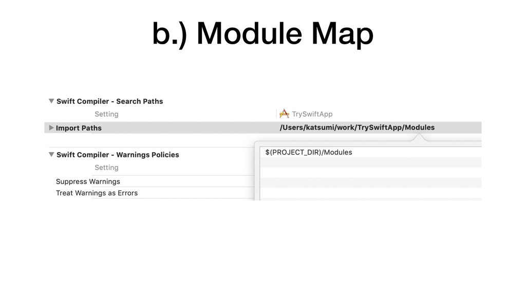 b.) Module Map