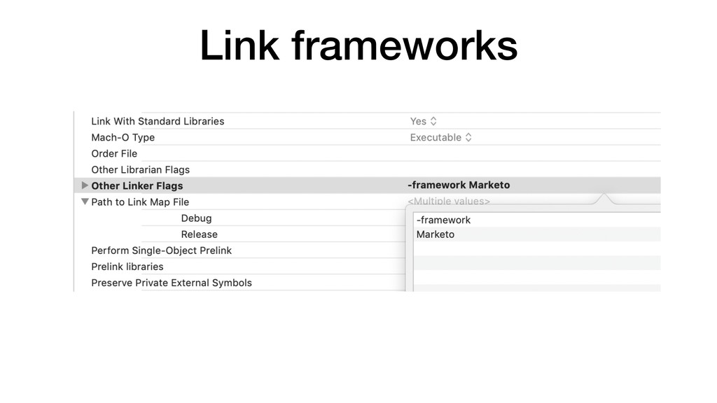 Link frameworks