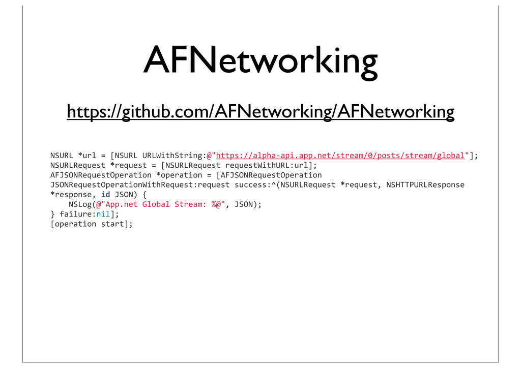 AFNetworking NSURL *url = [NSURL UR...