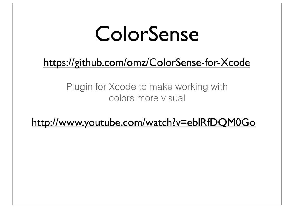 ColorSense https://github.com/omz/ColorSense-fo...