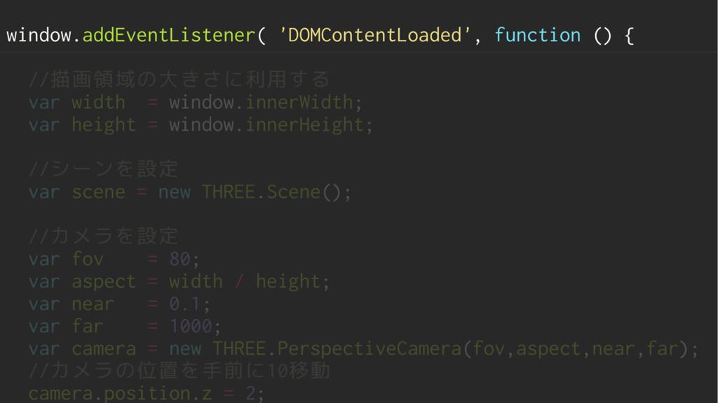 window.addEventListener( 'DOMContentLoaded', fu...