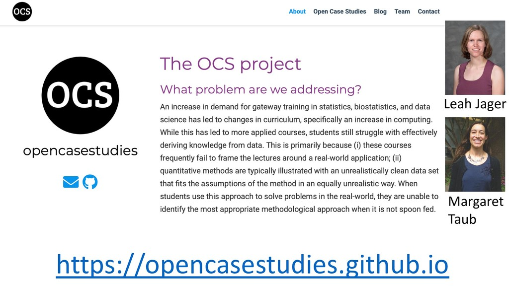 https://opencasestudies.github.io Leah Jager Ma...