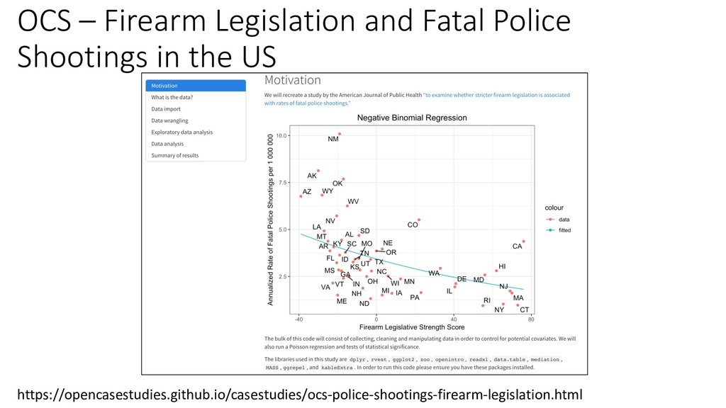 OCS – Firearm Legislation and Fatal Police Shoo...