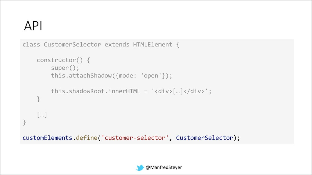 @ManfredSteyer API class CustomerSelector exten...